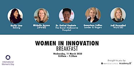 Women in Innovation Breakfast tickets
