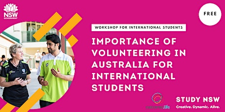 Importance of Volunteering in Australia for international students tickets