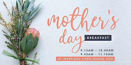 Mother's Day Breakfast at Werribee Zoo tickets