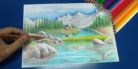 Coloured Pencil Drawing Course  (Landscape Theme) 彩色的铅笔素描 (景观) - 8 Sessions From Apr 27 tickets