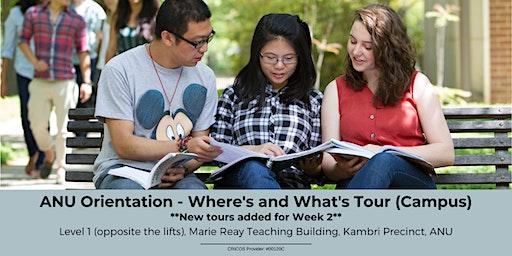 ANU Orientation - Where's & What's Tour (Campus)