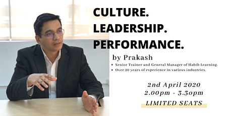 Culture, Leadership, Performance tickets