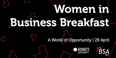 2020 RMIT BSA Women in Business Breakfast tickets