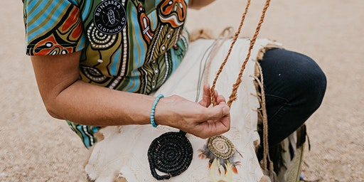 Weaving Necklaces with Wadawurrung woman Tammy Gilson