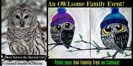 OWLsome Family Paint Night Event and Meet a Real Live Owl! Hammond tickets