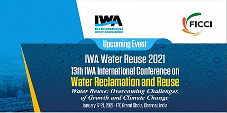 13th IWA International Conference On Water Reclamation and Reuse tickets