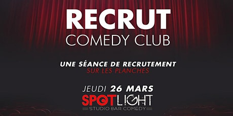Le Recrut Comedy Club – Lille 2020 billets