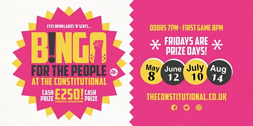 Bingo for the People - 24 Jan,21 Feb,13 March,10 April