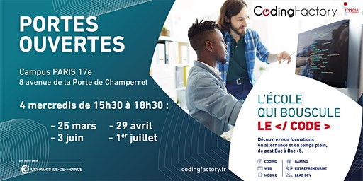Portes Ouvertes de la Coding Factory by ITESCIA - Paris