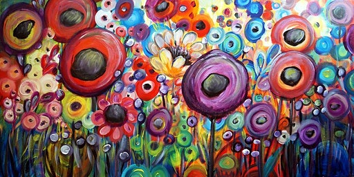 Paint & Sip Afternoon - FUNKY FLOWERS @ CHANCELLOR TAVERN