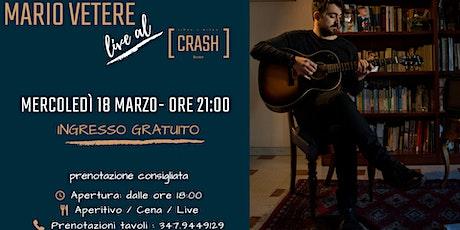 Mario Vetere // Live al Crash Roma biglietti