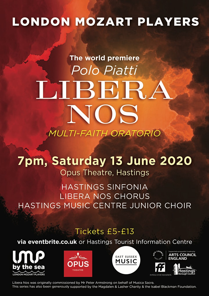EVENT POSTPONED The world premiere of Libera Nos with London Mozart Players image