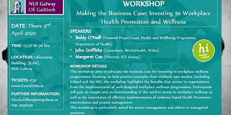 Workshop: Making the Business Case for Investing in Workplace Wellness tickets