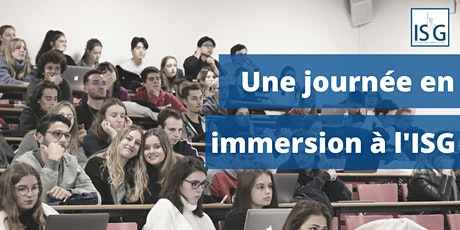 Journée d'immersion à l'ISG billets