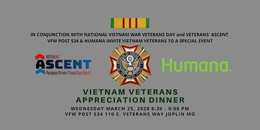 Veterans' Ascent Vietnam Veterans Appreciation Dinner