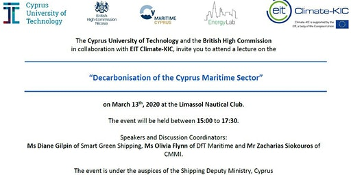 Decarbonisation of the Cyprus Maritime Sector