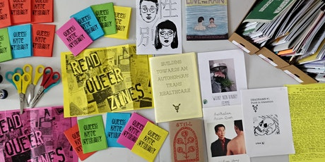 Queer Zine Library introduction to cataloguing tickets