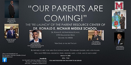 Dr. Ronald E. McNair Middle School's Re-Launch of The Parent Center tickets