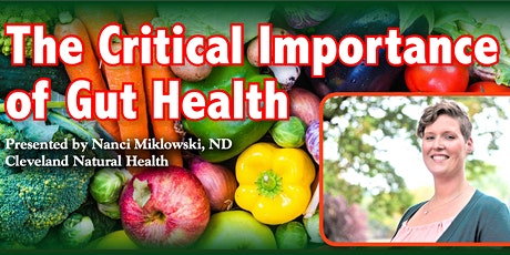 Lecture: The Critical Importance of Gut Health tickets
