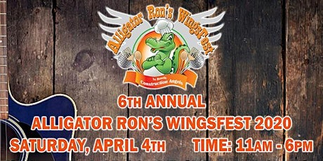 6th Annual Alligator Ron's WingsFest 2020 tickets