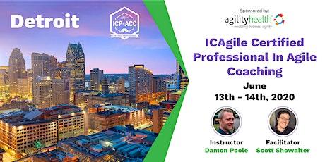 Agile Coach Workshop with ICP-ACC Certification Detroit June 13-14 tickets