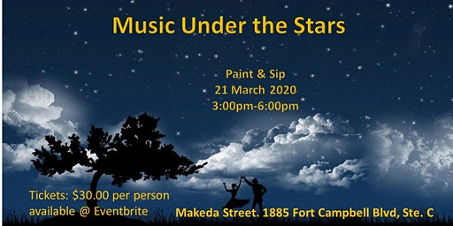 Music Under the Stars an evening of painting in harmony
