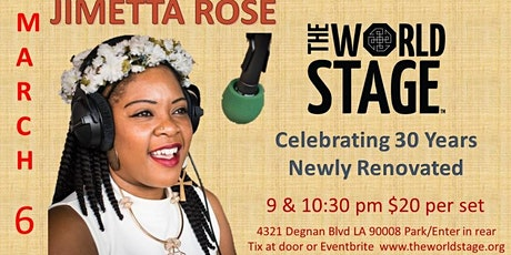 The World Stage presents *JIMETTA ROSE*  tickets