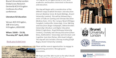 Literature & Education tickets