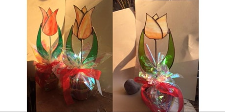 COPPER FOILED STAINED GLASS TULIPS tickets