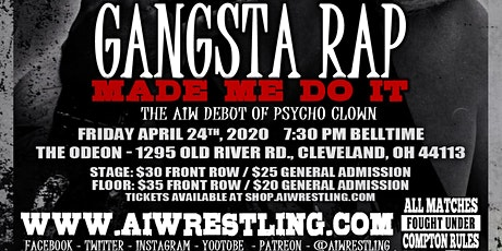 "Absolute Intense Wrestling Presents ""Gangsta Rap Made Me Do It"" tickets"