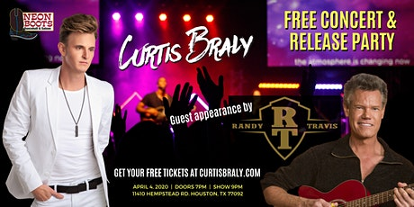Curtis Braly Concert & Release Party with Randy Travis at Neon Boots! tickets