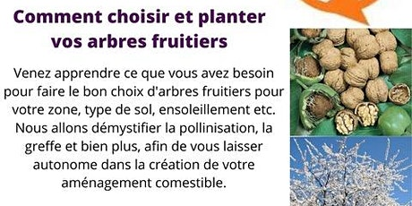 Atelier gratuit: Comment choisir et planter vos arbres fruitiers à Laval billets