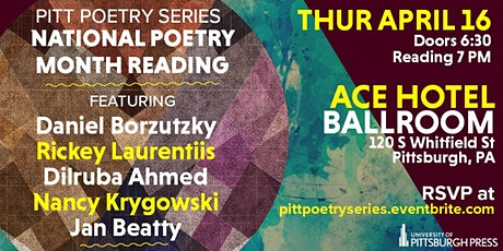 Pitt Poetry Series National Poetry Month Reading tickets