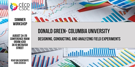 CSDC Summer Workshop: Designing, Conducting, and Analyzing Field Experiment tickets