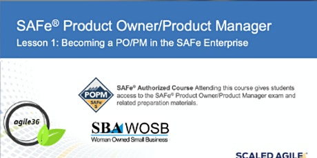 SAFe® Product Owner/ Product Manager (POPM) tickets
