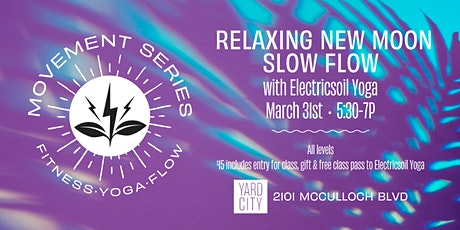 Relaxing New Moon Slow Flow with Electricsoil at YardCity tickets