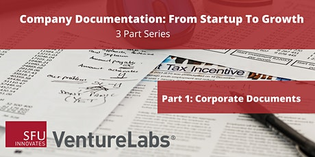 Company Documentation From Startup to Growth (#1 - Corporate Documents) tickets
