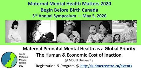 Maternal Mental Health Matters 2020  —  Begin Before Birth Canada tickets