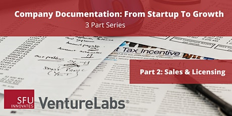 Company Documentation From Startup to Growth (#2 - Sales & Licensing) tickets