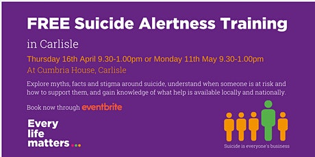 CANCELLED Suicide Alertness Training - Carlisle tickets