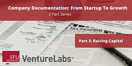 Company Documentation From Startup to Growth (#3 - Raising Capital) tickets