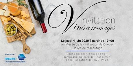 Vins et fromages - fondation IMQ billets
