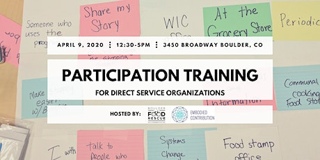POSTPONED TBD - Participation Training for Direct Service Orgs tickets