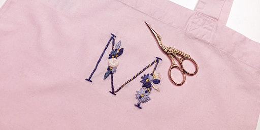 Floral Embroidery Tote-bag Workshop