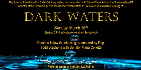 """Free """"Dark Waters"""" viewing with PFAS panel tickets"""