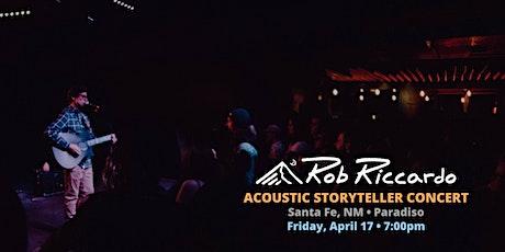Rob Riccardo - Acoustic Storyteller Concert at Paradiso (Santa Fe) tickets