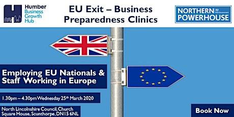 EU Exit Business Preparedness Clinics: Employing EU Nationals & Staffing tickets
