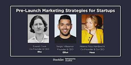 Pre-Launch Marketing Strategies for Startups  tickets
