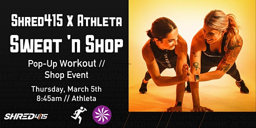 Shred415 X Athleta Sweat 'n Shop