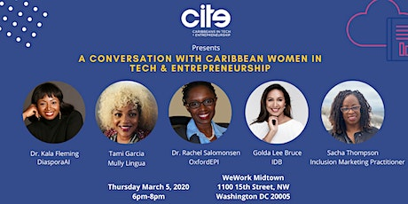 A Conversation with Caribbean Women in Tech and Entrepreneurship tickets